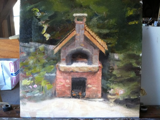 Nearly done, pizza oven