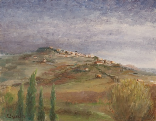 Tuscany, Storm Clearing (View of Cortona)