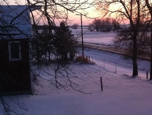 Litomysl Snowy Sunset
