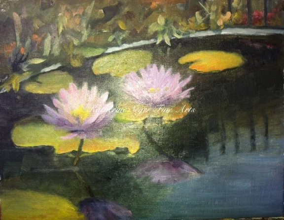 100 paintings in 92 days.11.water lilies copy 2